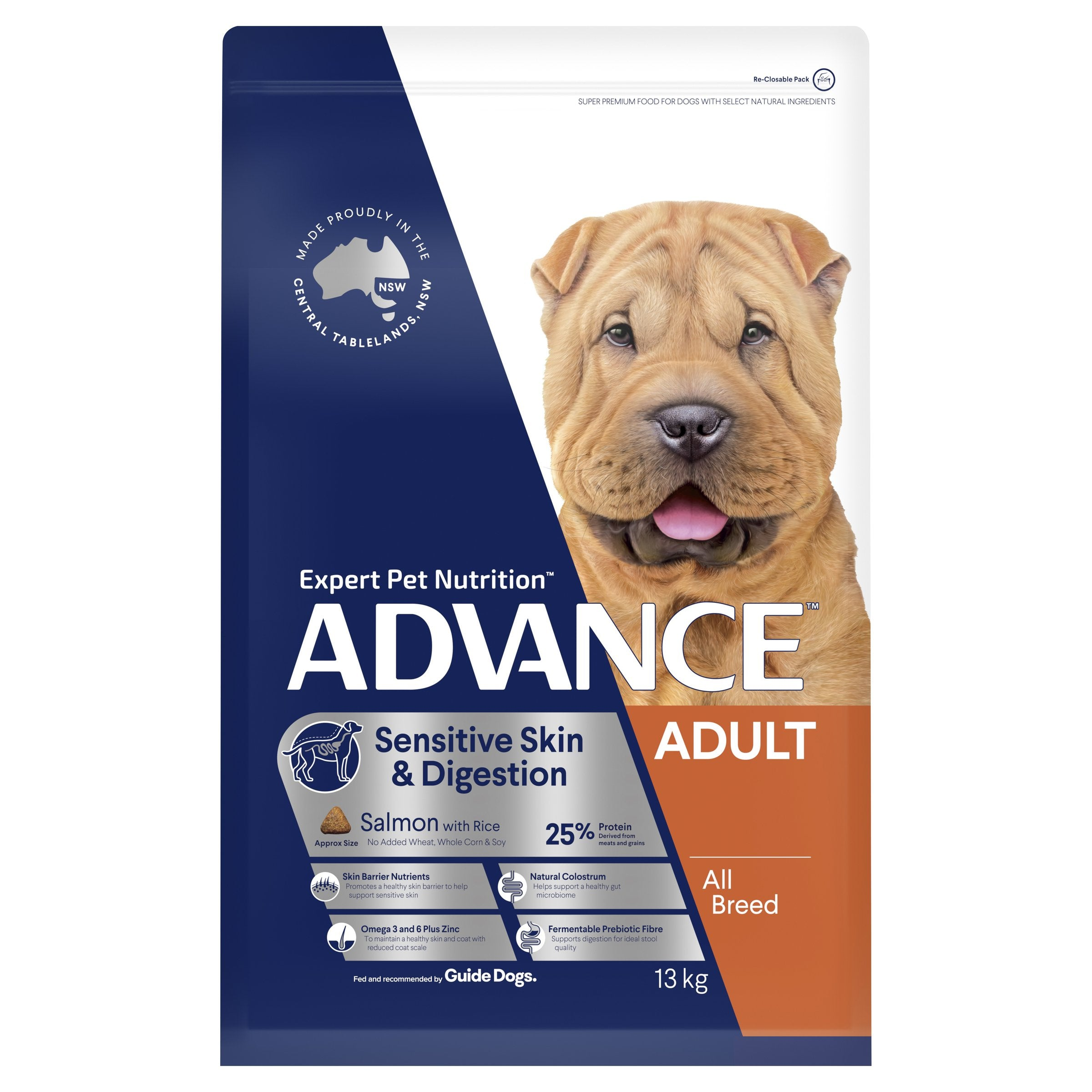 ADVANCE™ Sensitive Skin All Breed Salmon Dry Dog Food 13kg
