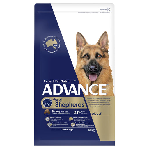 ADVANCE™ Shepherds Adult Large Breed Turkey with Rice Dry Dog Food 13kg
