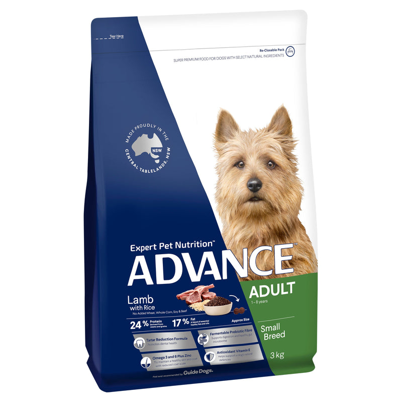 ADVANCE™ Adult Small Breed Lamb with Rice Dry Dog Food 3kg