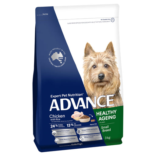 ADVANCE™ Healthy Ageing Small Breed Chicken & Rice Dry Dog Food 3kg