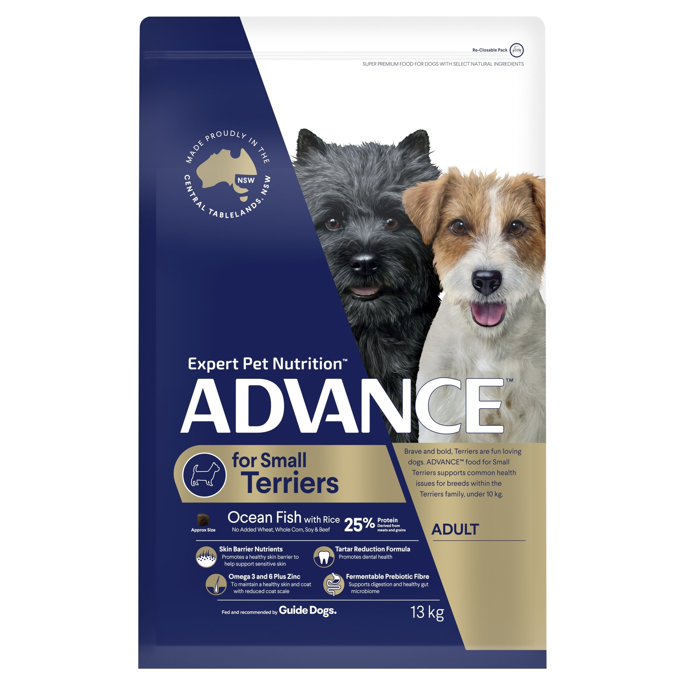 ADVANCE™ Terriers Adult Small Breed Ocean Fish with Rice Dry Dog Food 13kg