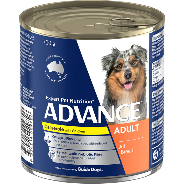 ADVANCE™ Adult All Breed Chicken Casserole Wet Dog Food 12x700g Cans