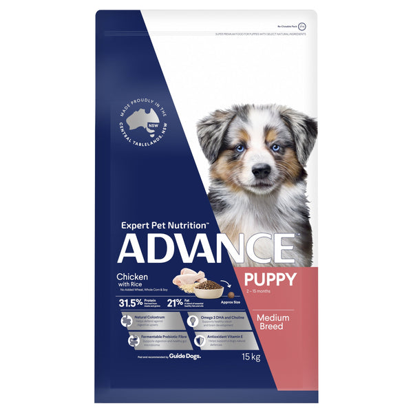 ADVANCE™ Puppy Growth Medium Breed Chicken with Rice Dry Dog Food 15kg