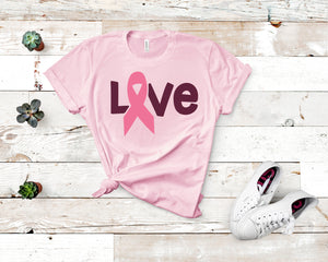 Love With Breast Cancer Ribbon