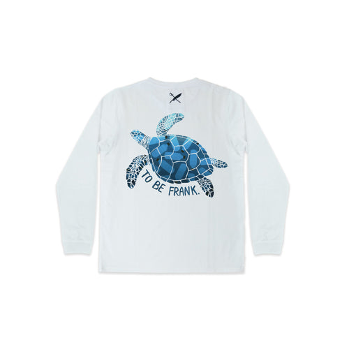 RECYCLE FOR THE TURTLES DIGITAL PRINT - UNISEX SAMMY TEE IN WHITE.