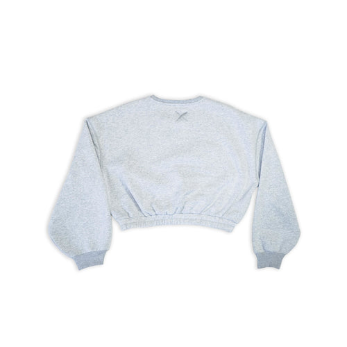 WOMEN'S HATTIE CROP SWEATSHIRT IN GREY - LIMTED EDITION