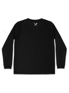 UNISEX SAMMY LONG SLEEVE TEE IN BLACK