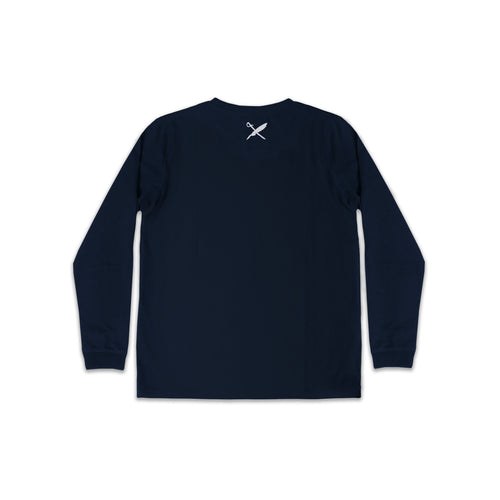 UNISEX SAMMY LONG SLEEVE TEE IN NAVY