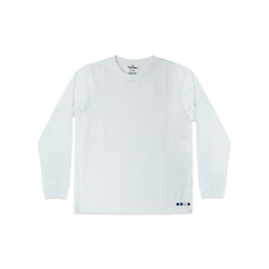 UNISEX SAMMY LONG SLEEVE TEE IN WHITE