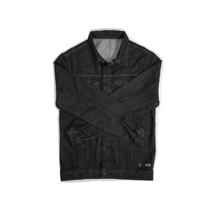 ERNEST MENS DENIM JACKET IN BLACK.
