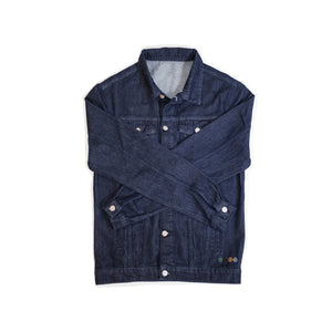 ERNEST MENS DENIM JACKET IN INDIGO.