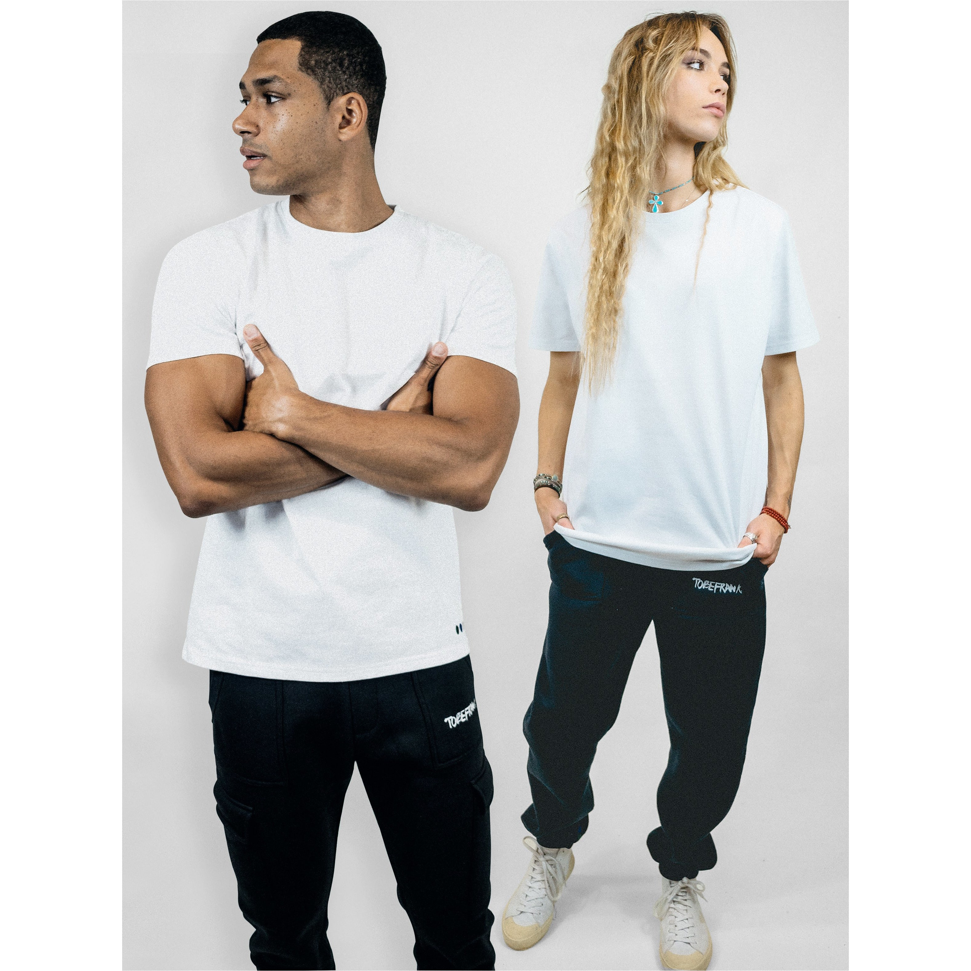UNISEX BROWER TEE IN WHITE