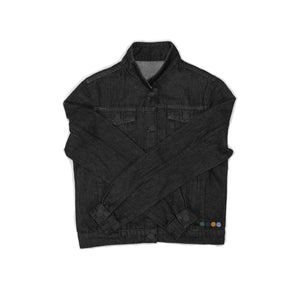 AGATHA WOMENS DENIM JACKET IN BLACK.