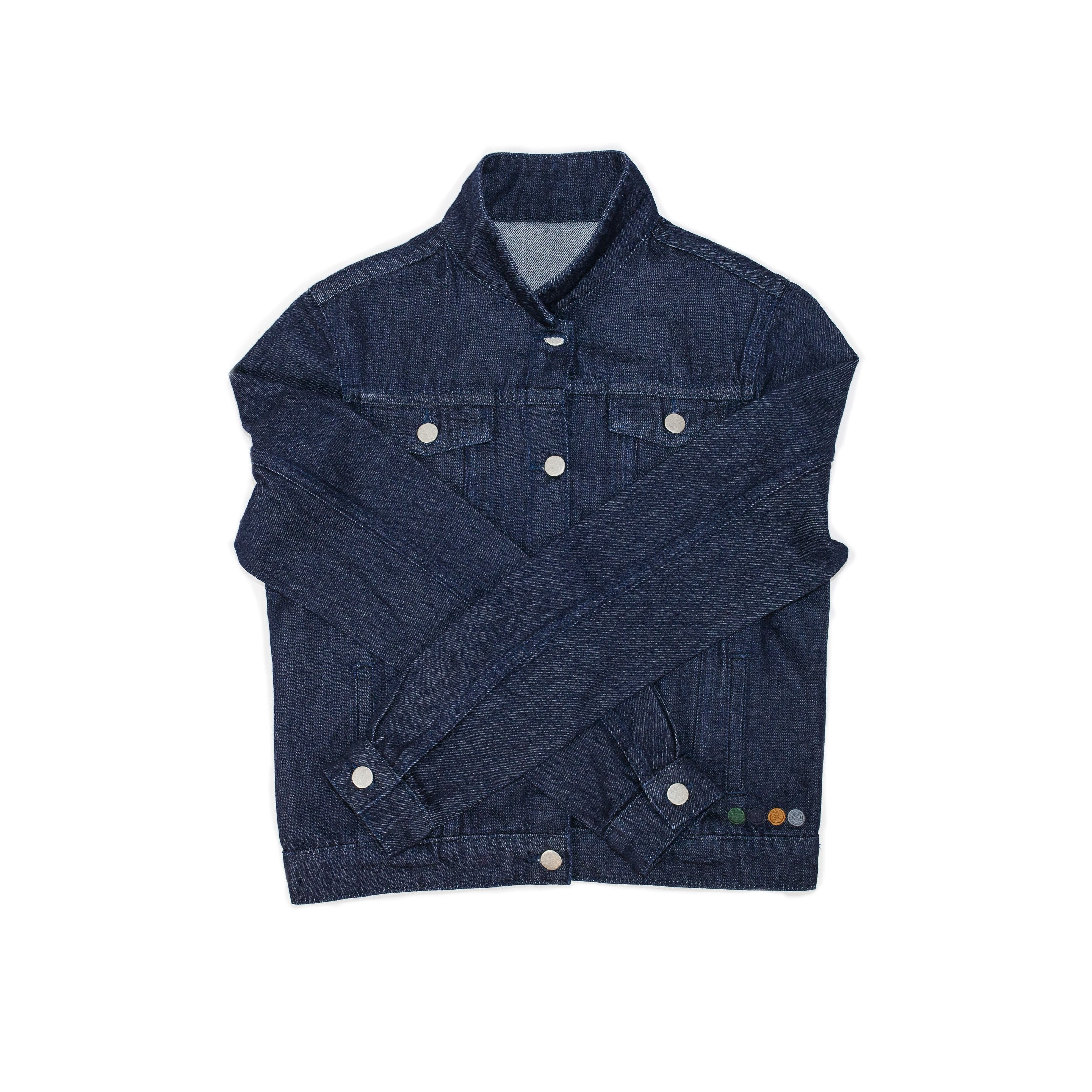 AGATHA WOMENS DENIM JACKET IN INDIGO.