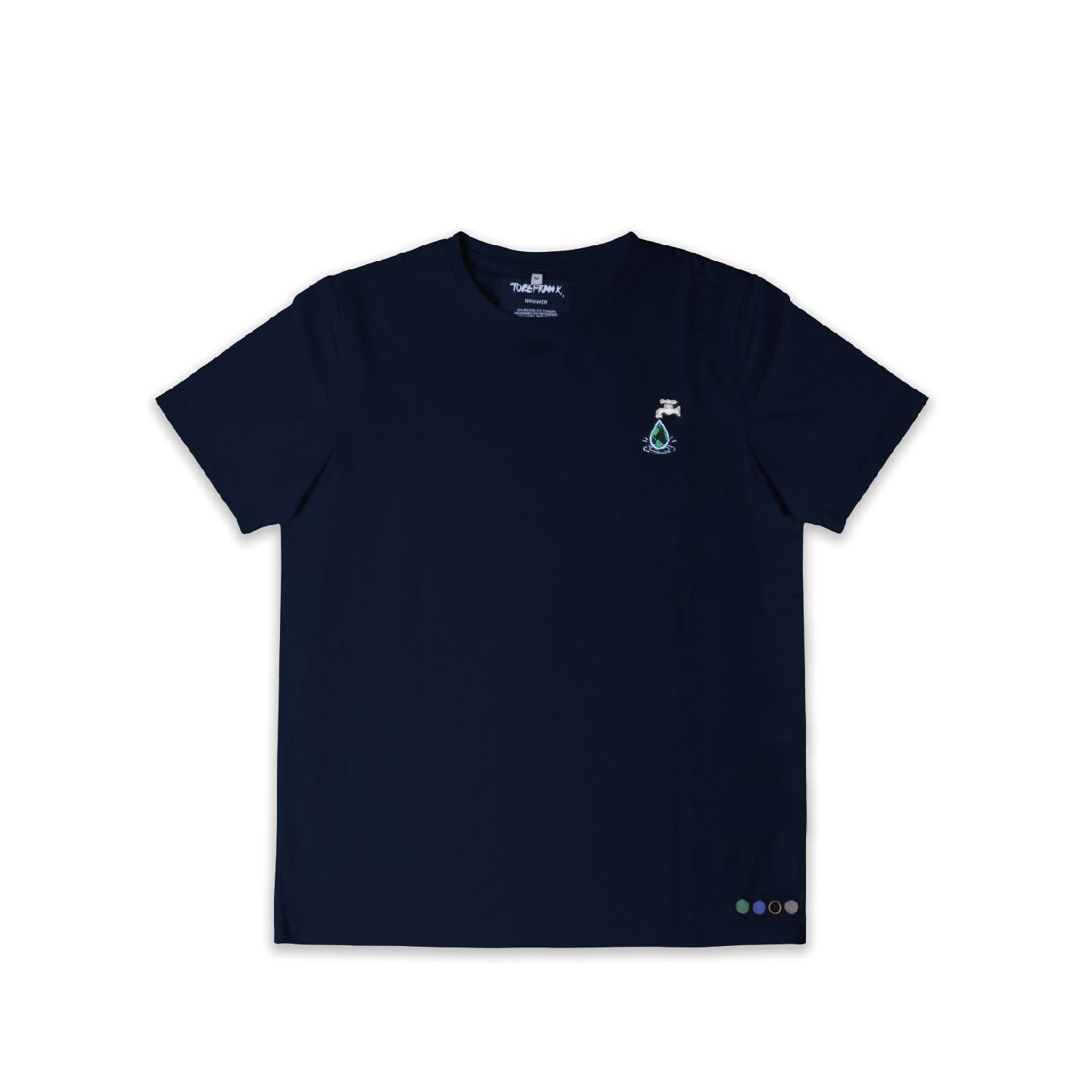 CLEAN WATER UNISEX BROWER TEE IN NAVY