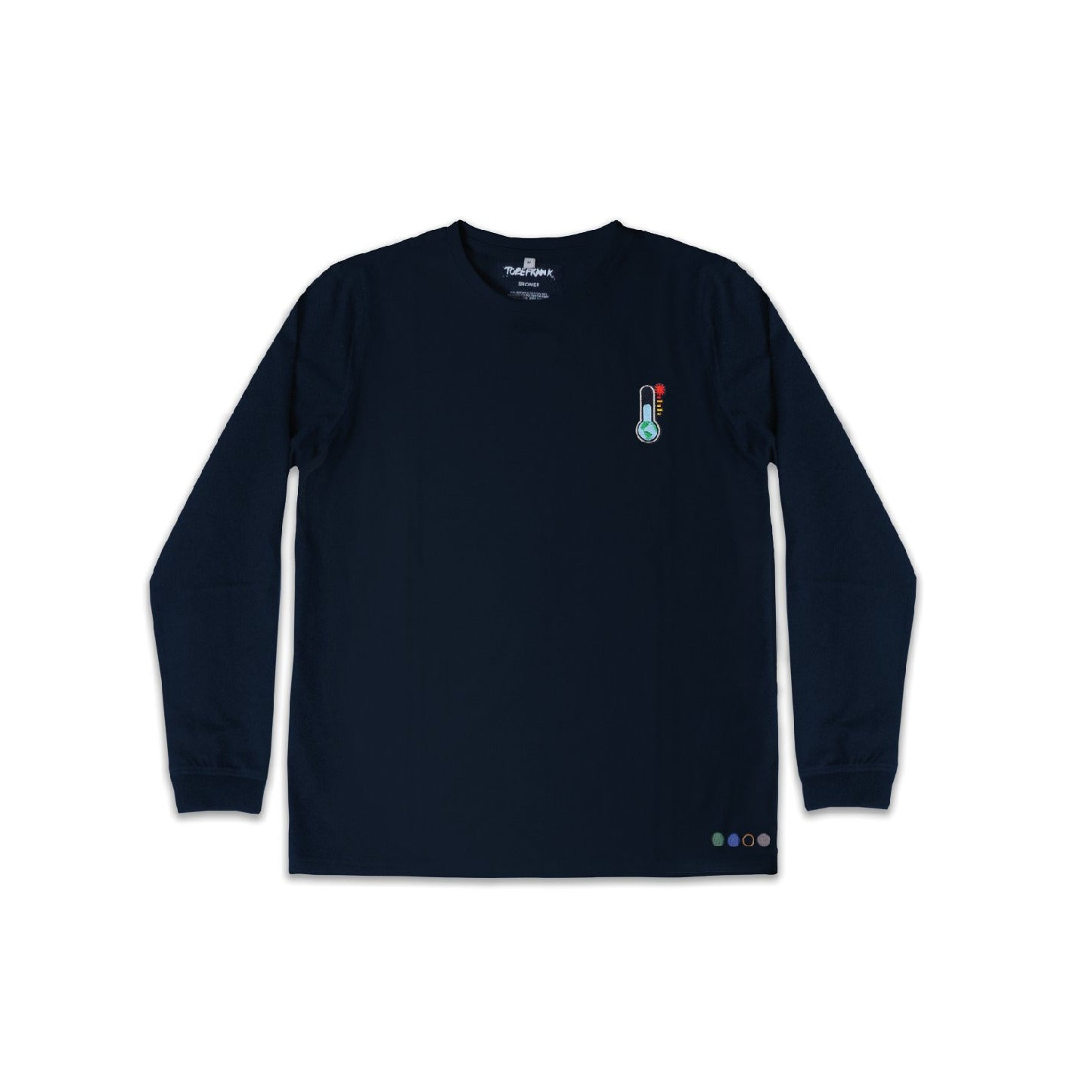 CLIMATE UNISEX SAMMY LONG SLEEVE TEE IN NAVY