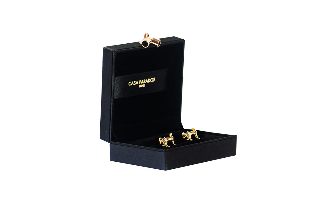Safari Gold Cufflinks