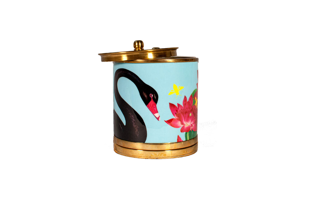 Swan Lake Jar Candle Turquois 4X4