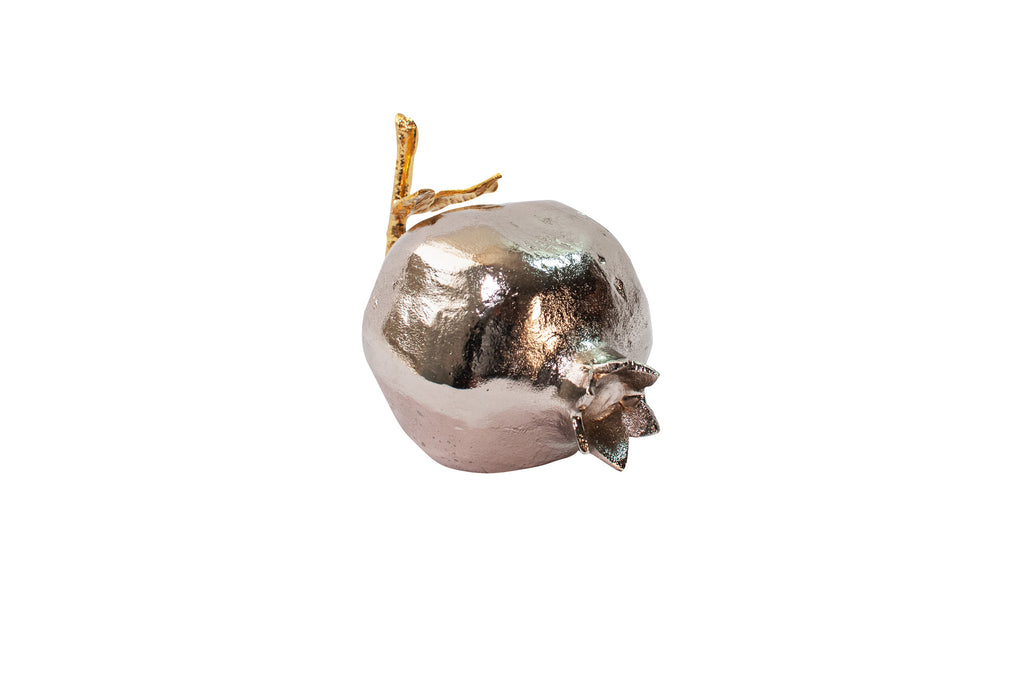 Silver Pomegranate Large Metal Fruits