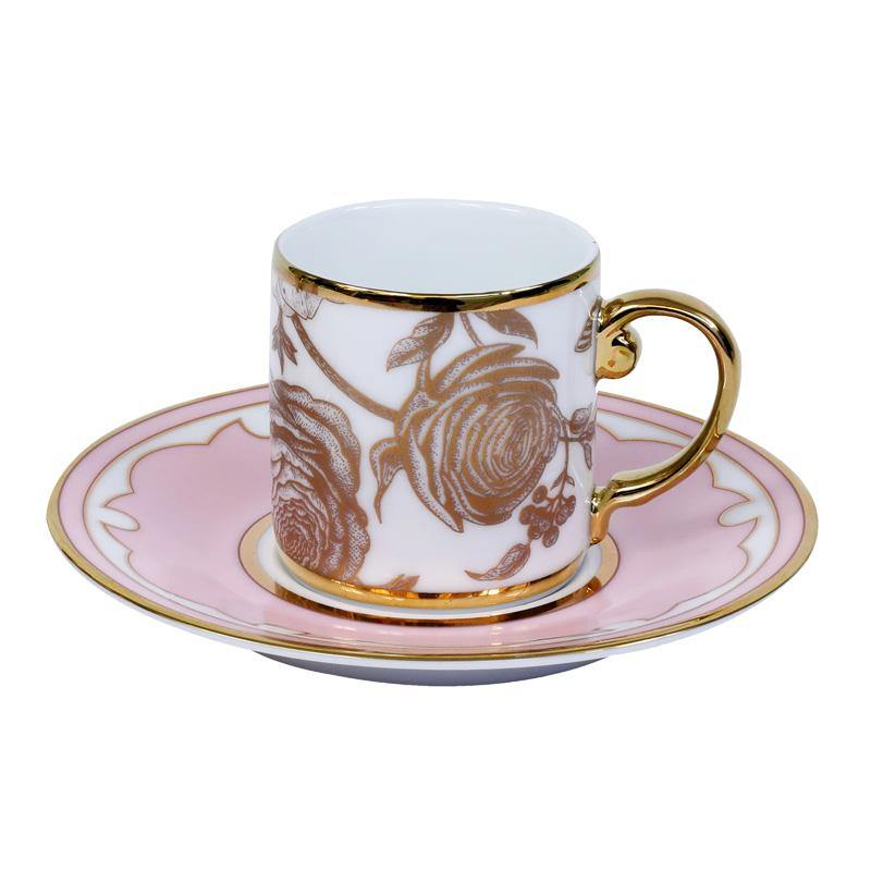 2 tea cup & 2 saucer set of 4pcs