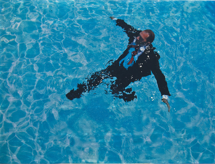 Eric Zener Artwork 'Staying Afloat (in suit) II' | Available at fosterwhite.com