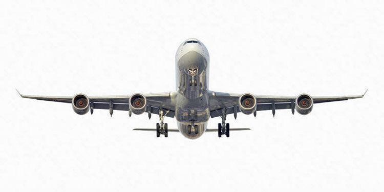 Jeffrey Milstein Artwork 'Lufthansa Airbus A340-600' | Available at fosterwhite.com