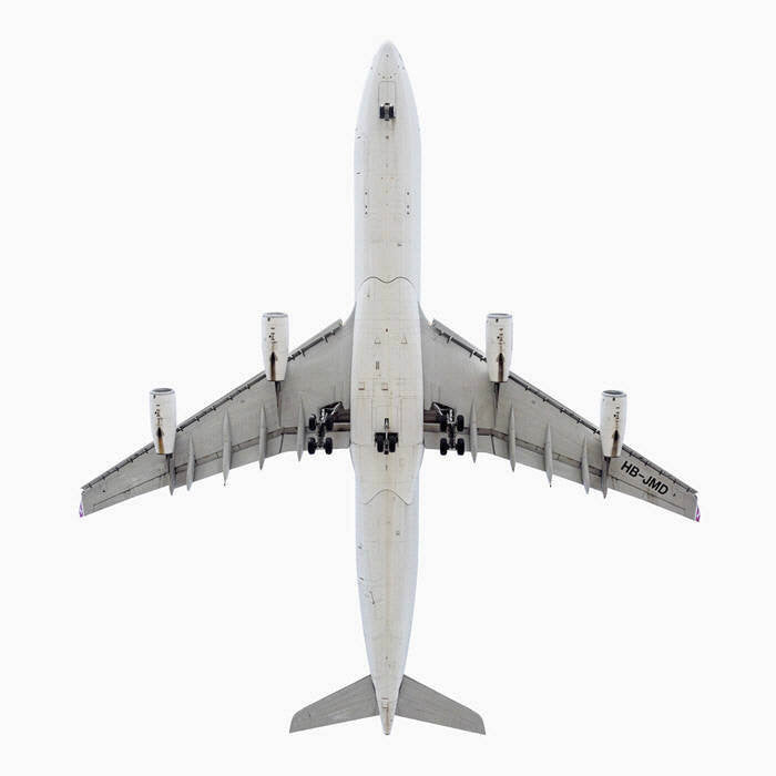 Jeffrey Milstein Artwork 'Swiss International Airlines A340-300, Ed. 2/12' | Available at fosterwhite.com