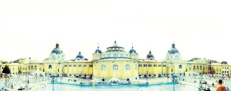 Joshua Jensen-Nagle - Budapest Bath House - 2 sizes | Available at Foster White Gallery Seattle