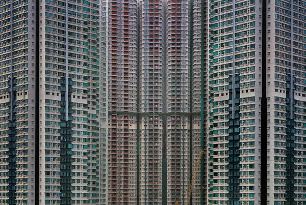 Michael Wolf - Architecture of Density 52, Chromogenic Print Mounted to Archival Substrate, Framed in Black with Plexiglass, - Bau-Xi Gallery