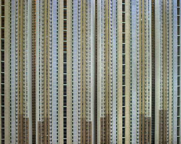 Michael Wolf - Architecture of Density 111, Chromogenic Print Mounted to Archival Substrate, Framed in Black with Plexiglass, - Bau-Xi Gallery