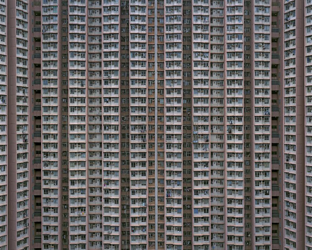 Michael Wolf - Architecture of Density 32, Chromogenic Print Mounted to Archival Substrate, Framed in Black with Plexiglass, - Bau-Xi Gallery