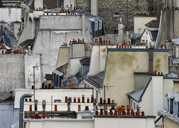 Michael Wolf - Paris Rooftops 1, Chromogenic Print Mounted to Archival Substrate, Framed in Black with Plexiglass, - Bau-Xi Gallery