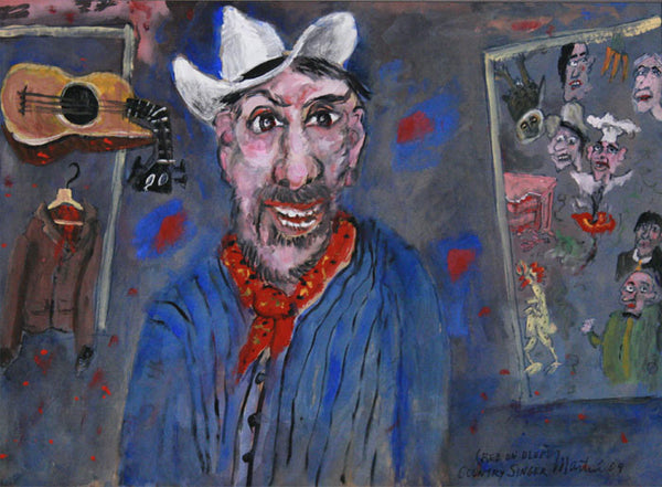 James Martin Artwork '(Red on Blue) Country Singer' | Available at fosterwhite.com