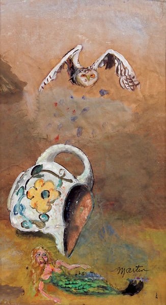 James Martin Artwork 'Untitled (Owl, Jug, Mermaid)' | Available at fosterwhite.com