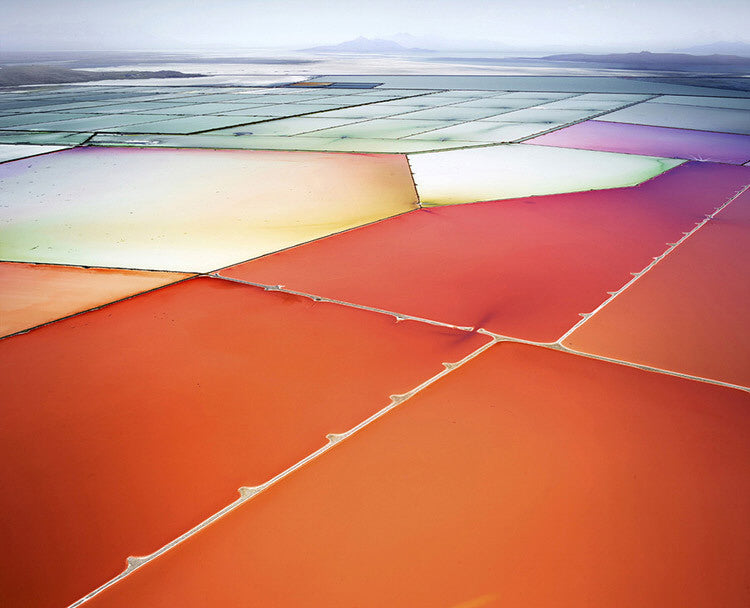David Burdeny Artwork 'Saltern Study 10, Great Salt Lake, UT' | Available at fosterwhite.com
