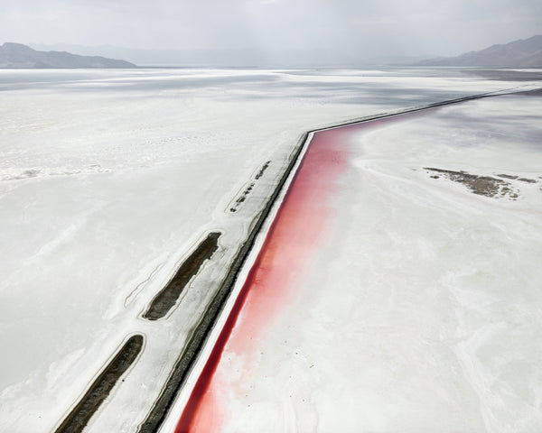 David Burdeny Artwork 'Red Canal, Great Salt Lake, Utah' | Available at fosterwhite.com