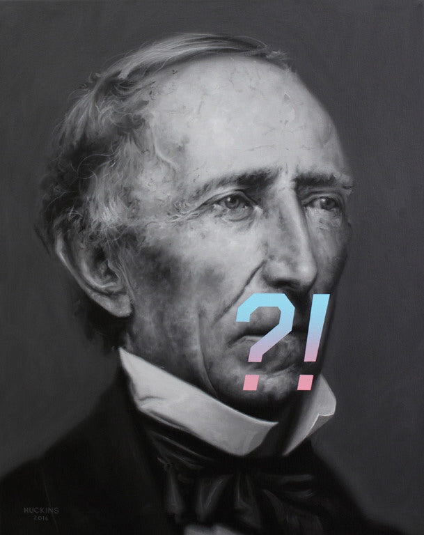 Shawn Huckins Artwork 'John Tyler's Expression of Surprise, Confusion, or Shock' | Available at fosterwhite.com
