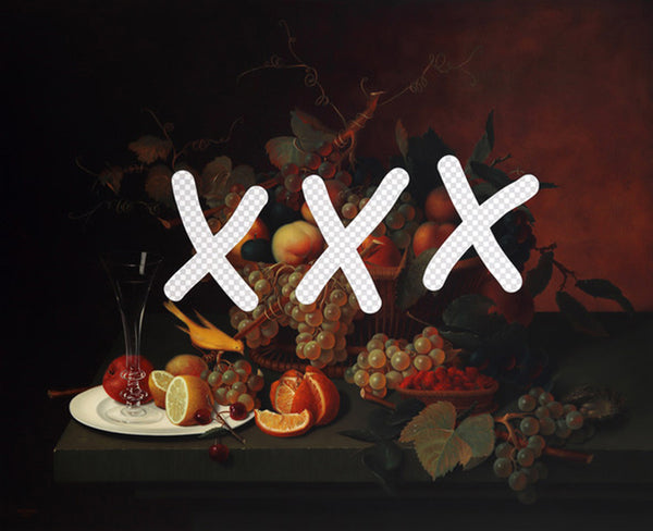 Shawn Huckins Artwork 'Smut Still Life With Fruit And CanaryÉ' | Available at fosterwhite.com