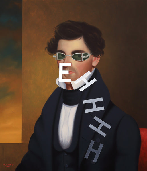 Shawn Huckins Artwork 'Descending Eh: Portrait of Nathaniel Olds' | Available at fosterwhite.com