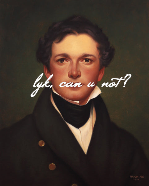 Shawn Huckins Artwork 'William Sidney Mount Self Portrait: Like, Can You Not?' | Available at fosterwhite.com