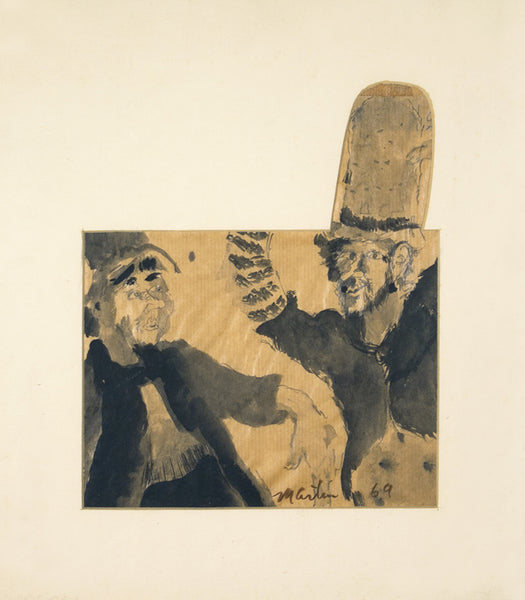 James Martin Artwork 'Untitled (Tall hat with two figures)' | Available at fosterwhite.com