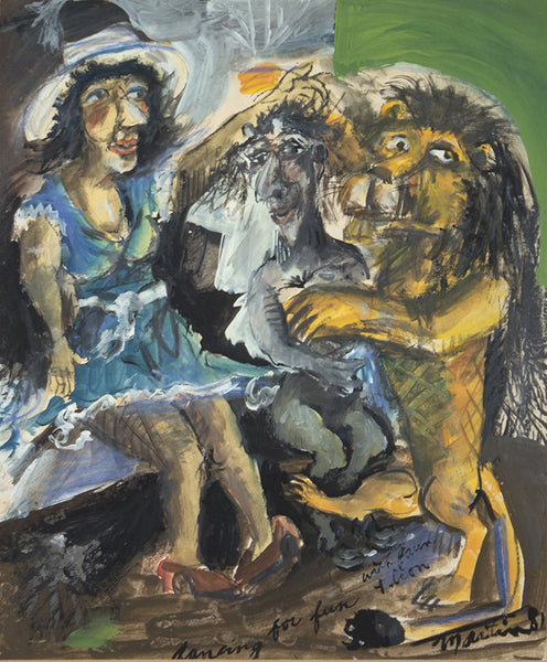 James Martin Artwork 'Dancing For Fun With Fawn And Lion' | Available at fosterwhite.com