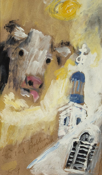 James Martin Artwork 'Cow And The 1st Baptist Church' | Available at fosterwhite.com