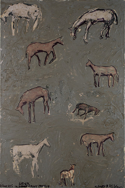 Casey McGlynn Artwork 'Grey Field Herd' | Available at fosterwhite.com