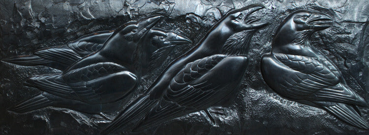 Tony Angell Artwork 'Raven's Wall, AP 1/1' | Available at fosterwhite.com