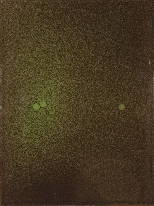 Tom Burrows Artwork 'Green/Brown with 3 Spots' | Available at fosterwhite.com
