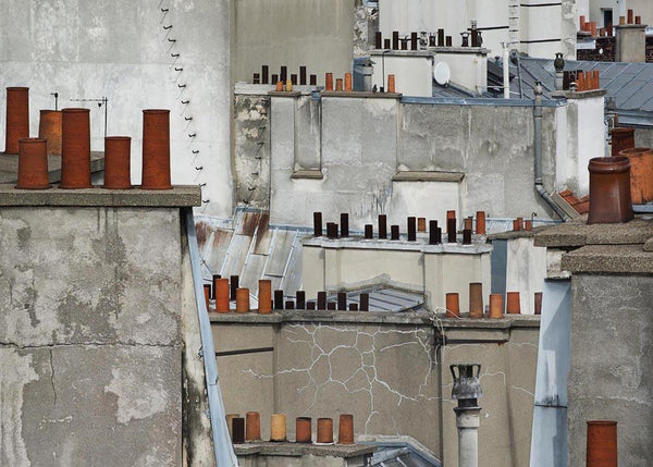 Michael Wolf - Paris Rooftops 11, Chromogenic Print Mounted to Archival Substrate, Framed in Black with Plexiglass, - Bau-Xi Gallery
