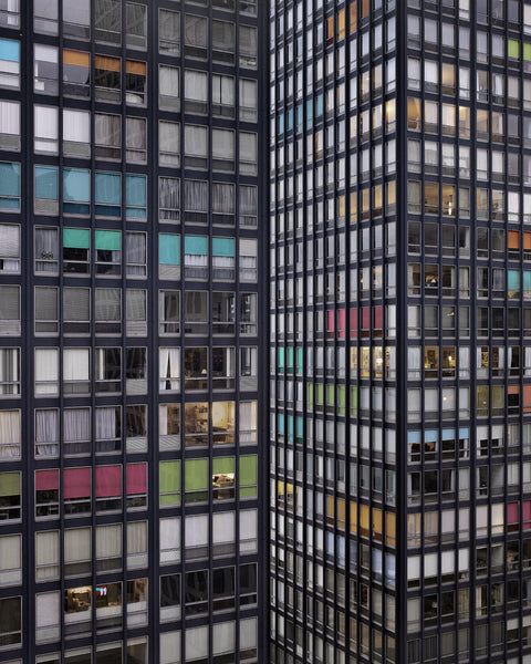 Michael Wolf - Transparent City 86, Chromogenic Print Mounted to Archival Substrate, Framed in Black with Plexiglass, - Bau-Xi Gallery
