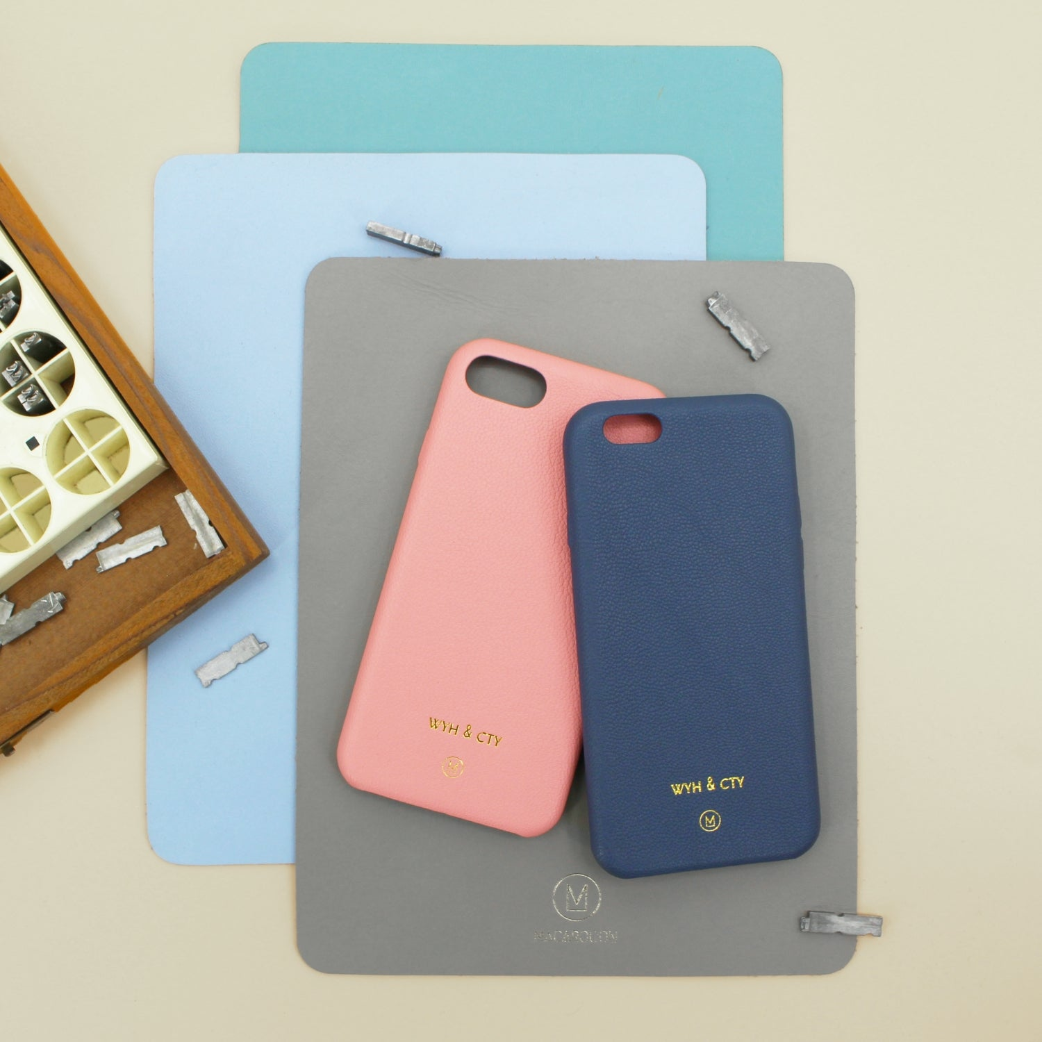 Have a special name or date embossed on your iPhone Cases at Macarooon.