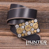 Hunter Hardware Men's Distressed Black Belt - Prettyhunter.com